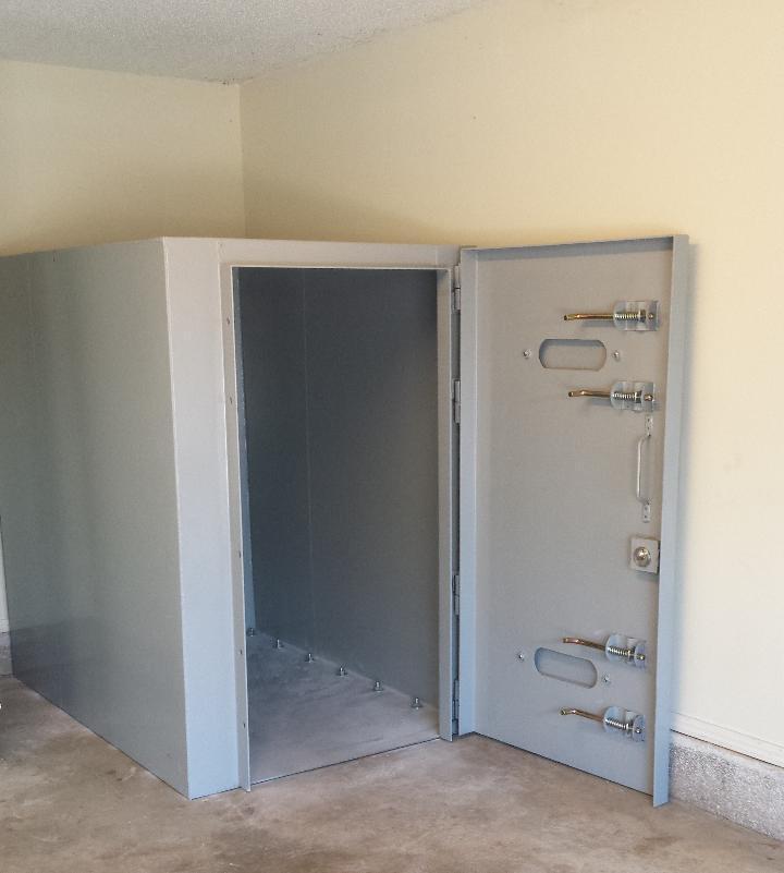 Dallas safe room rated for and ef5 tornado for Built in safe room