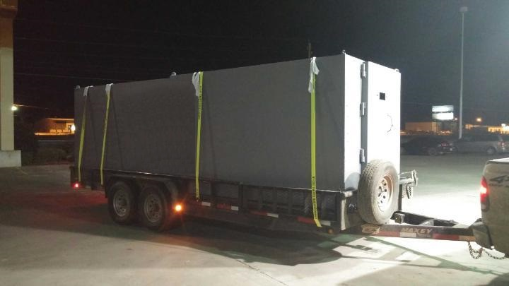 10x25 storm shelter in transit