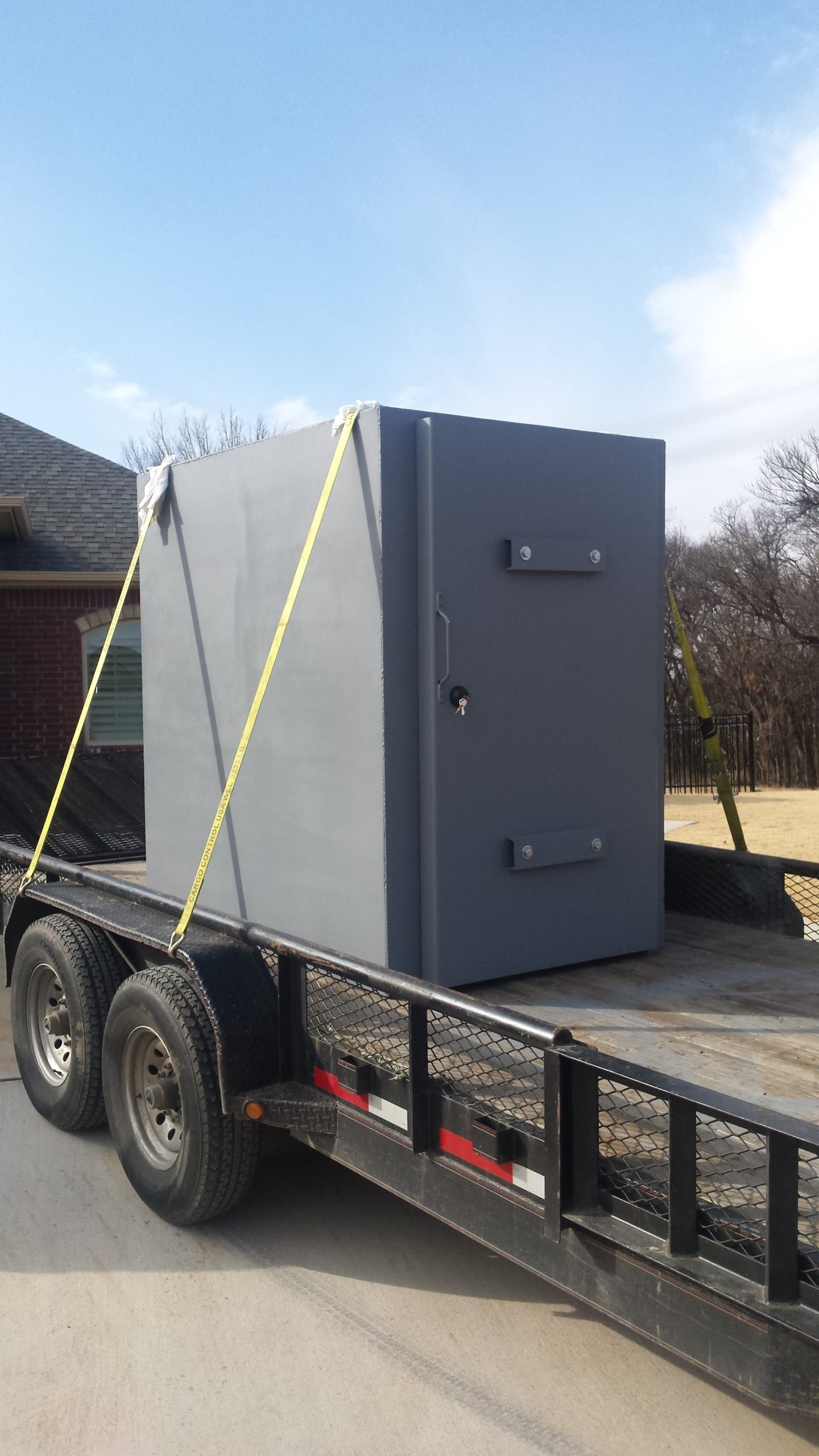 Safe Room Being Delivered to Client