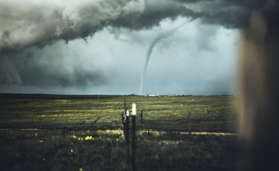 Twister Ravaging through Field