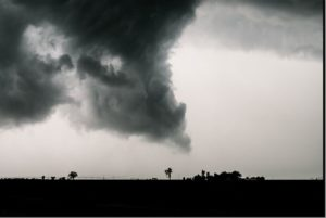tornado at night