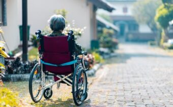 woman on wheel chair