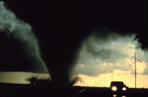driving away from tornado