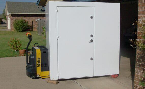 steel storm shelter room