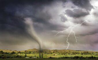 intense tornado lightening and disaster