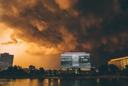 storm at office
