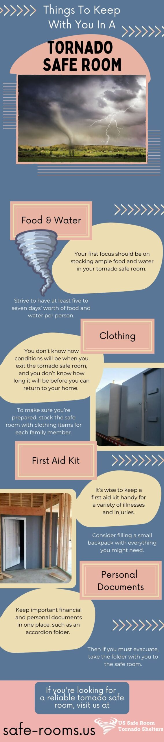 things to keep in a safe room