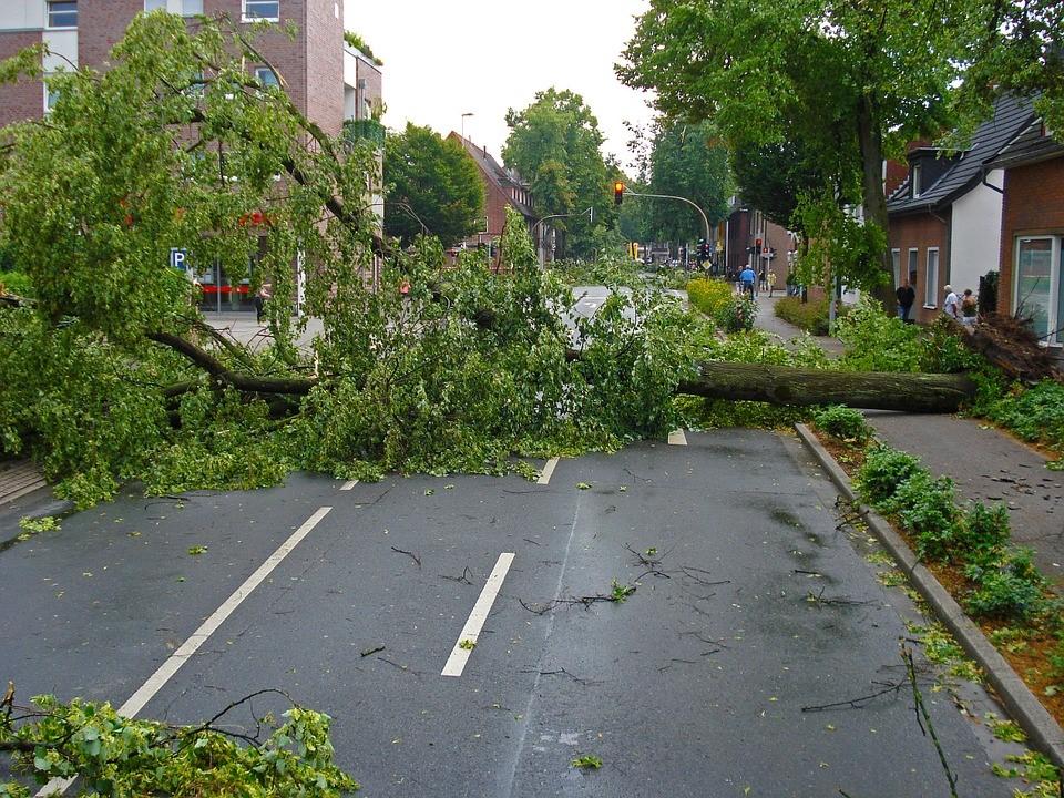 aftermath of a tornado.
