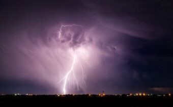storm hitting the city