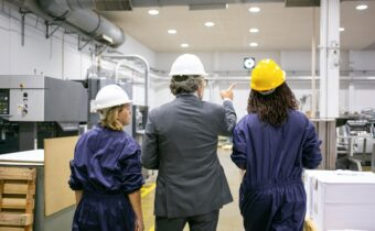 engineers inspecting safety protocols
